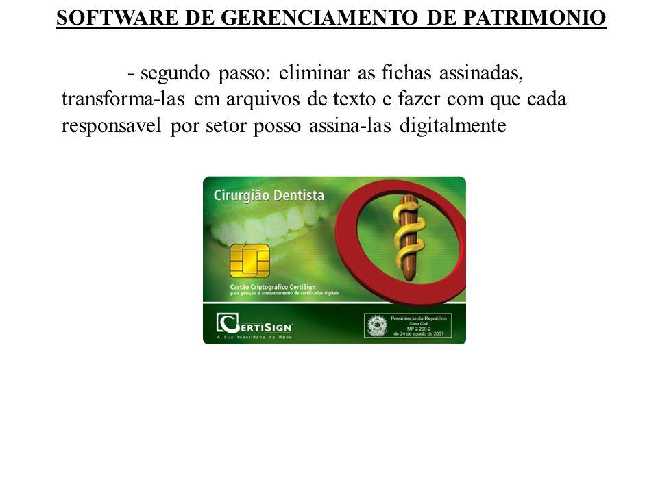 SOFTWARE DE GERENCIAMENTO DE PATRIMONIO