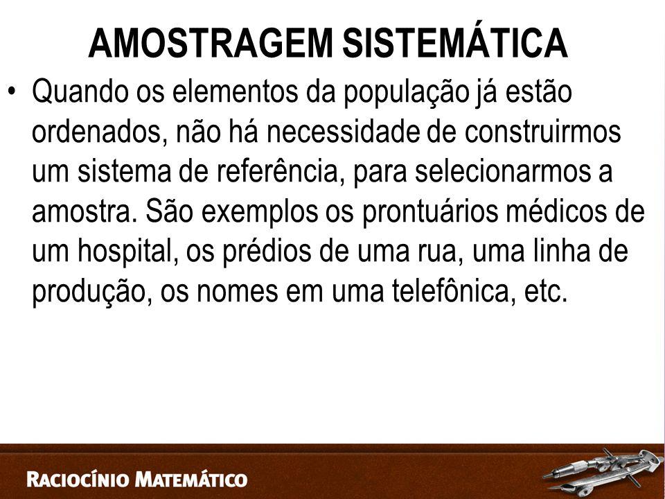 AMOSTRAGEM SISTEMÁTICA