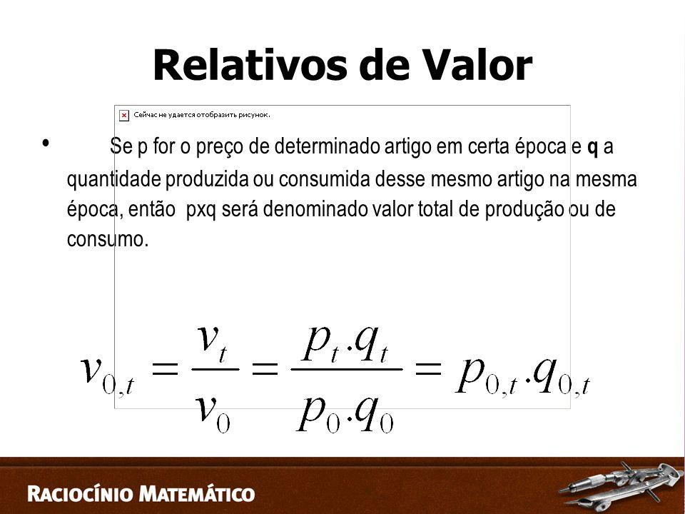 Relativos de Valor