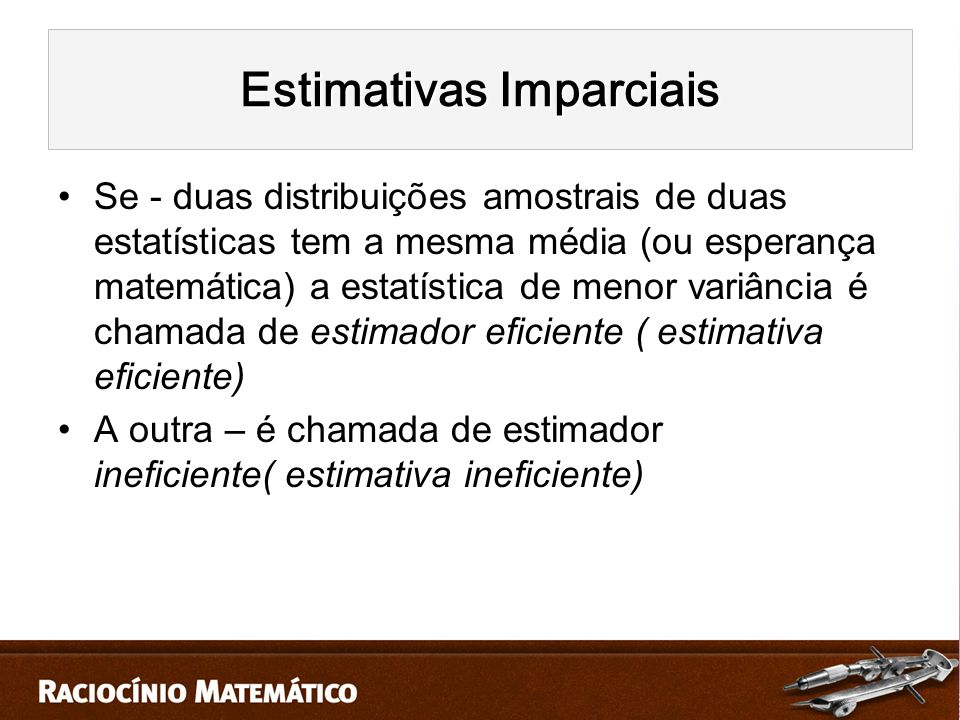 Estimativas Imparciais