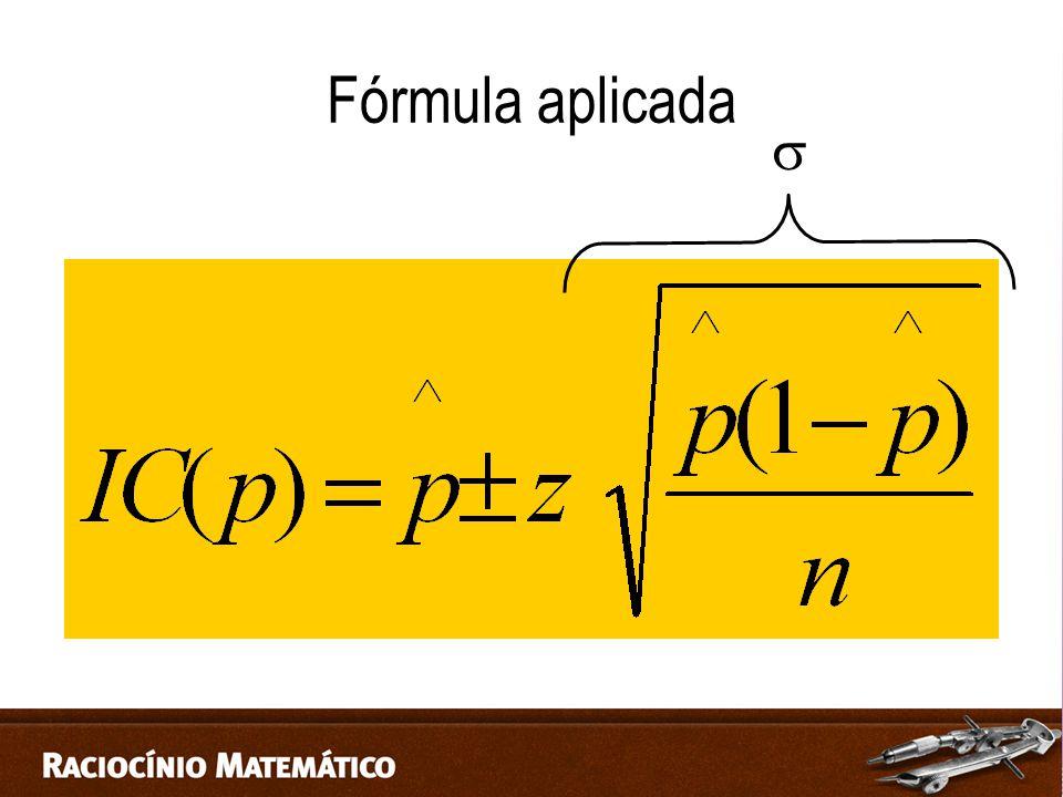 Fórmula aplicada 