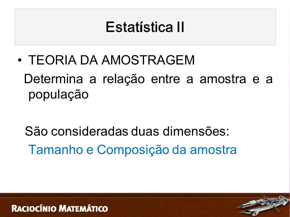 Estatística II TEORIA DA AMOSTRAGEM