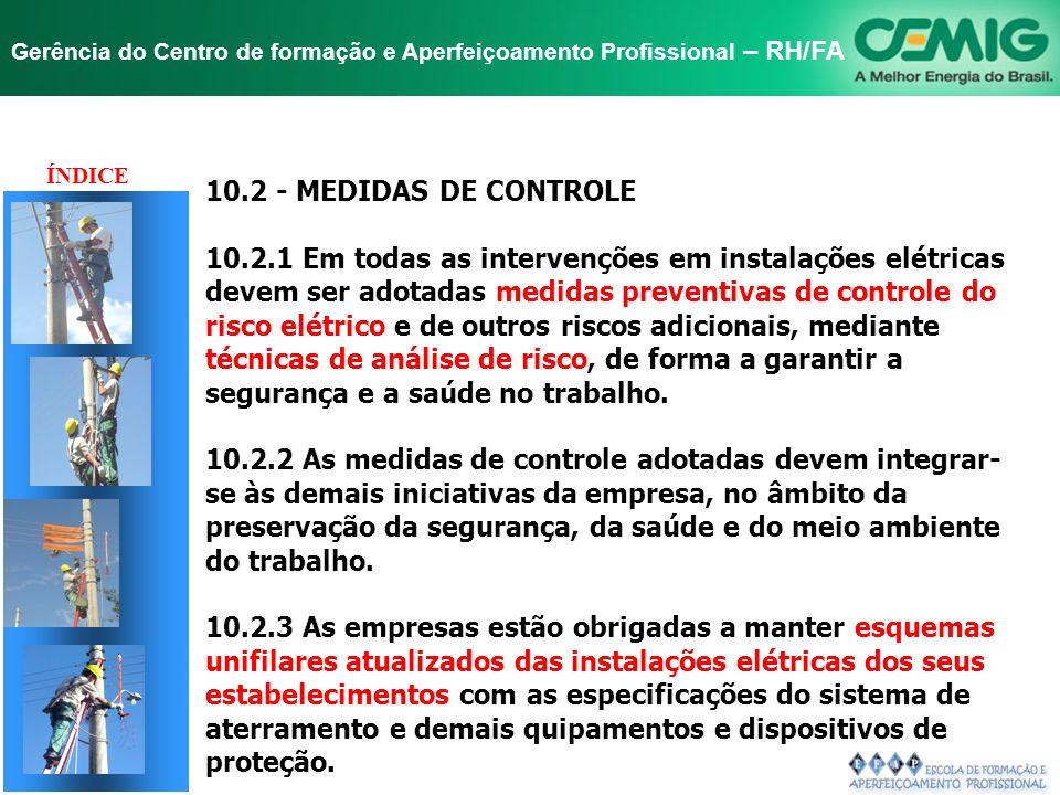 TÍTULO 10.2 - MEDIDAS DE CONTROLE