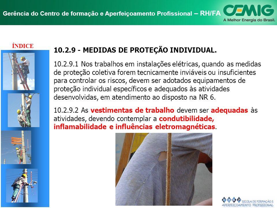 TÍTULO 10.2.9 - MEDIDAS DE PROTEÇÃO INDIVIDUAL.