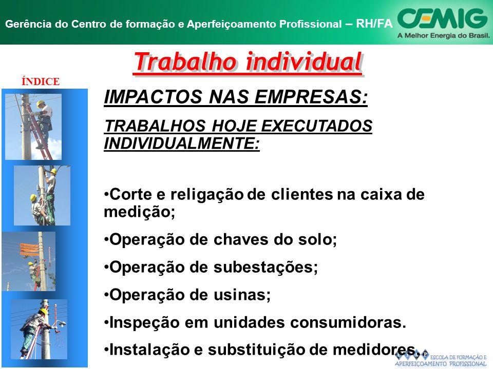 Trabalho individual IMPACTOS NAS EMPRESAS: