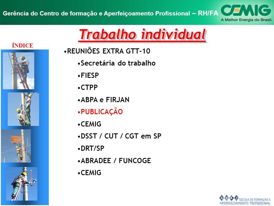 Trabalho individual REUNIÕES EXTRA GTT-10 Secretária do trabalho FIESP