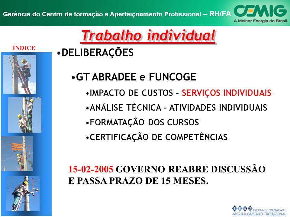 Trabalho individual DELIBERAÇÕES GT ABRADEE e FUNCOGE