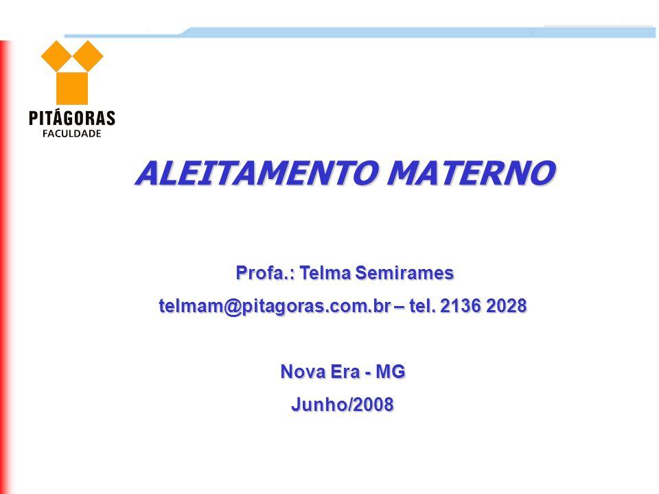 Profa.: Telma Semirames telmam@pitagoras.com.br – tel. 2136 2028