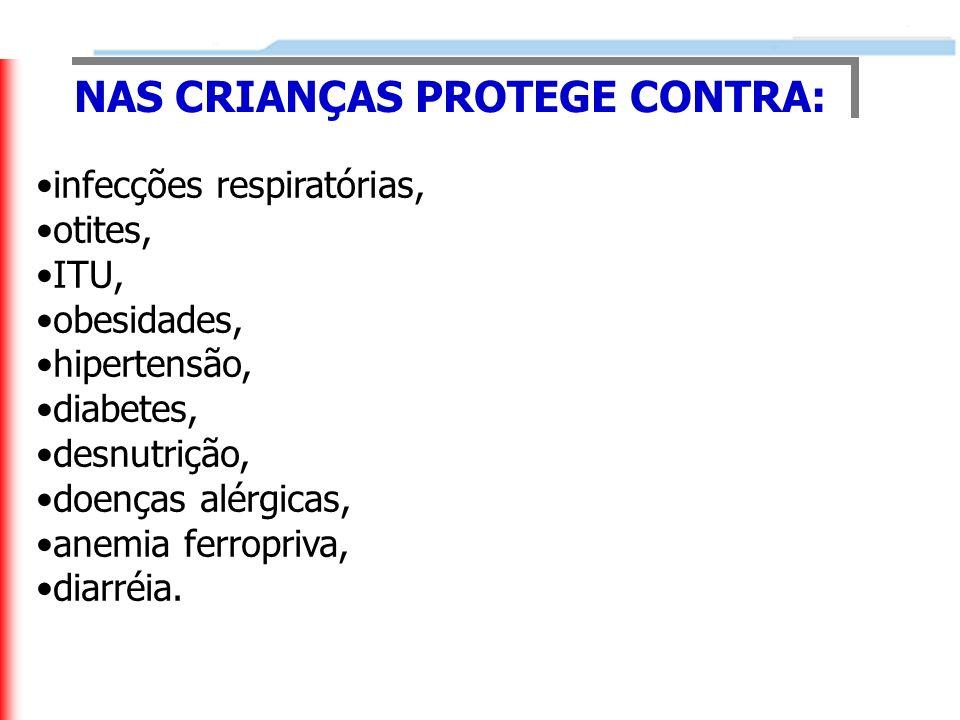 NAS CRIANÇAS PROTEGE CONTRA: