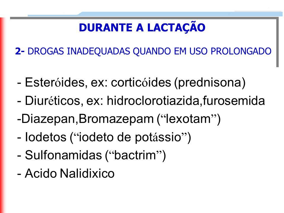 2- DROGAS INADEQUADAS QUANDO EM USO PROLONGADO