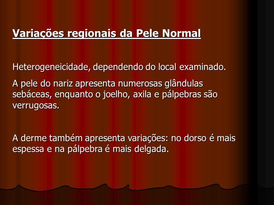 Variações regionais da Pele Normal