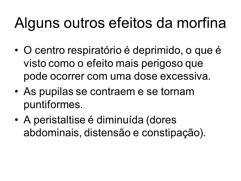 Alguns outros efeitos da morfina