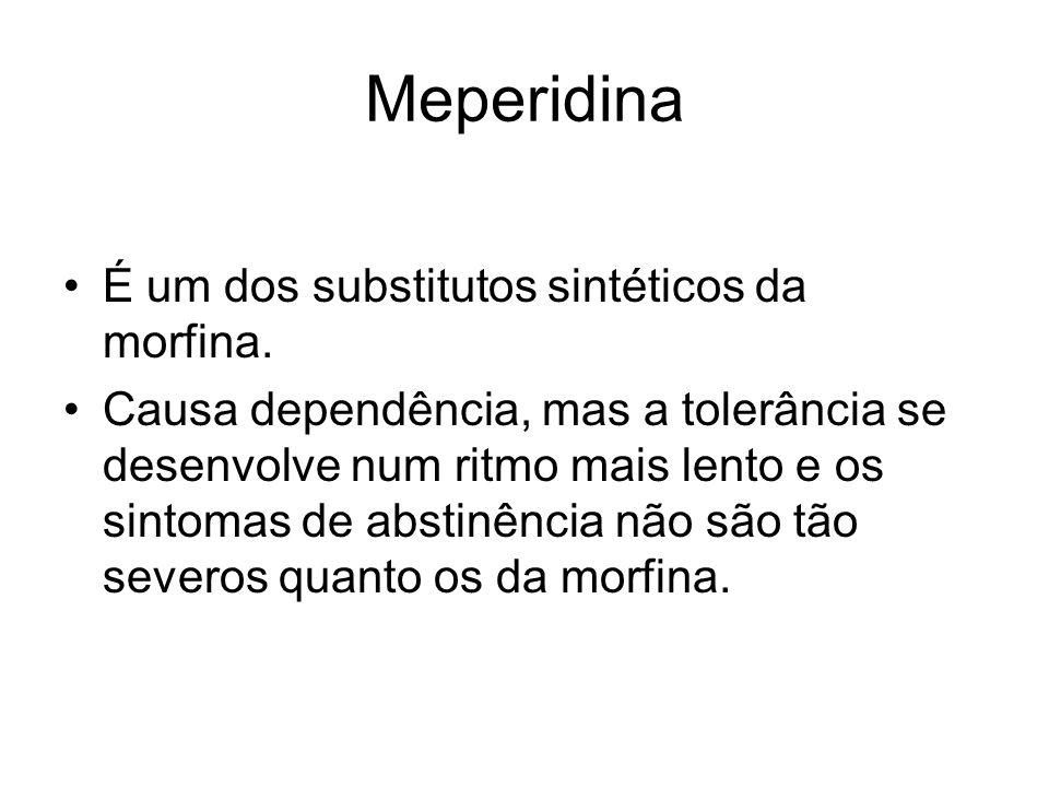 Meperidina É um dos substitutos sintéticos da morfina.
