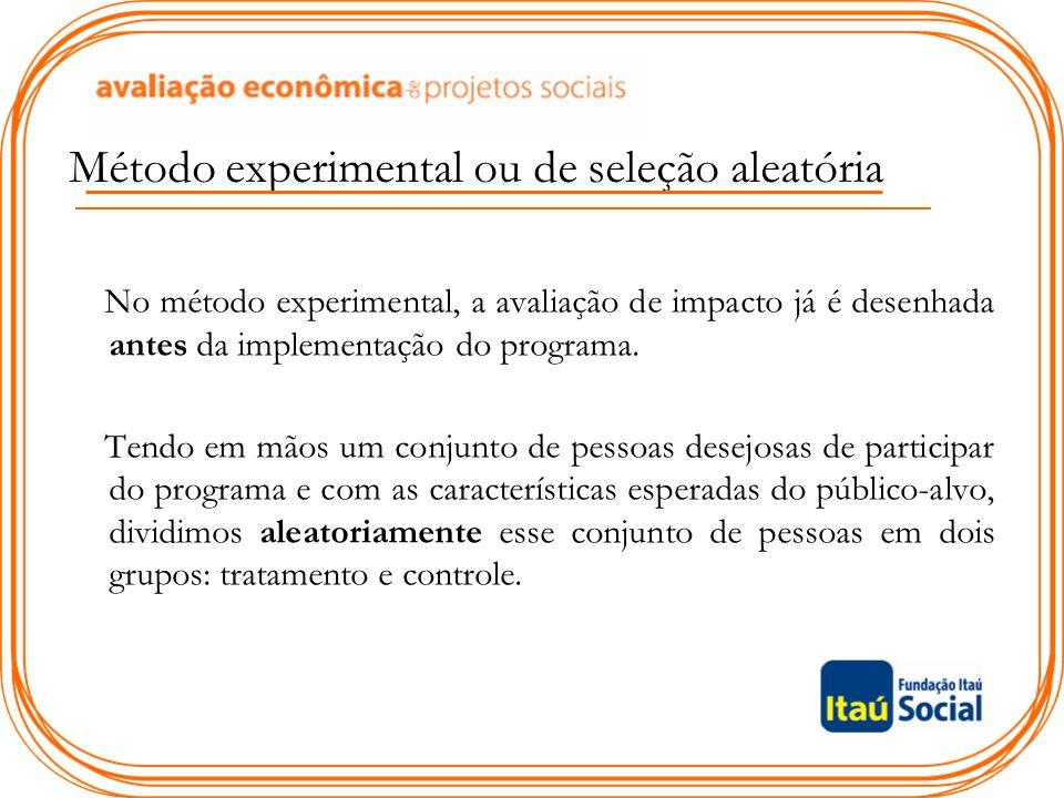 Método experimental ou de seleção aleatória