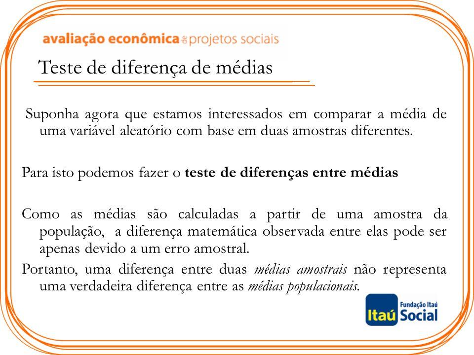Teste de diferença de médias