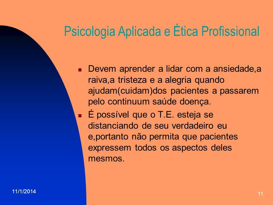 Psicologia Aplicada e Ética Profissional