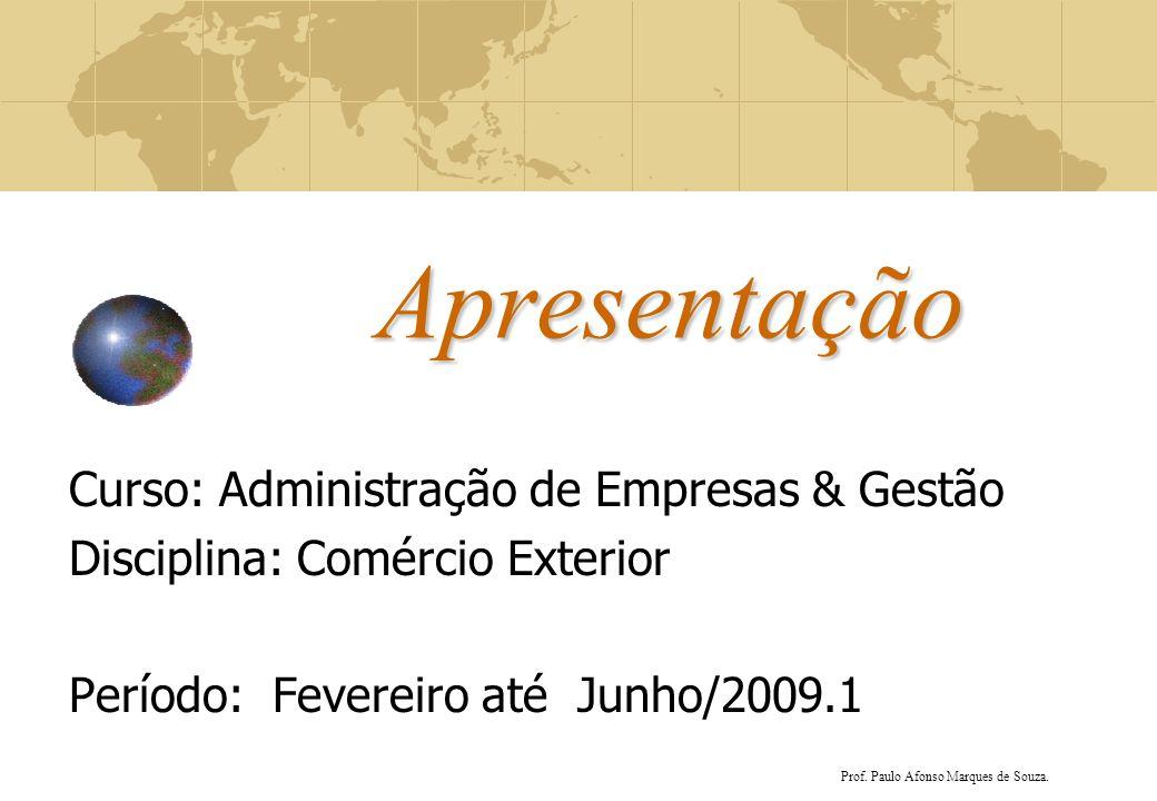 Apresentação Curso: Administração de Empresas & Gestão