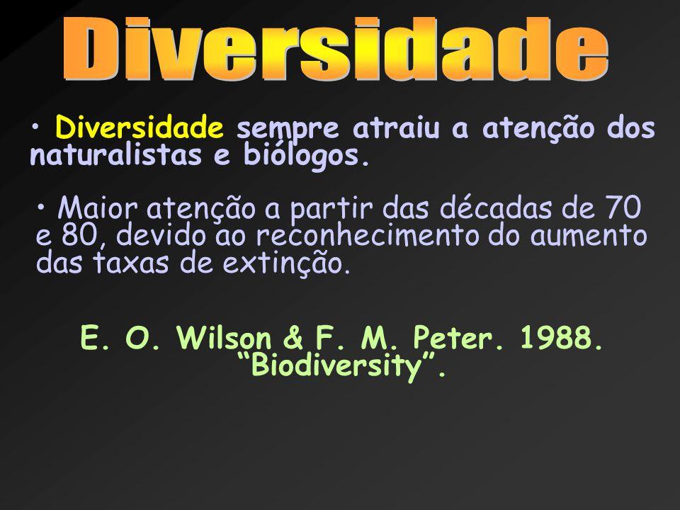 E. O. Wilson & F. M. Peter. 1988. Biodiversity .