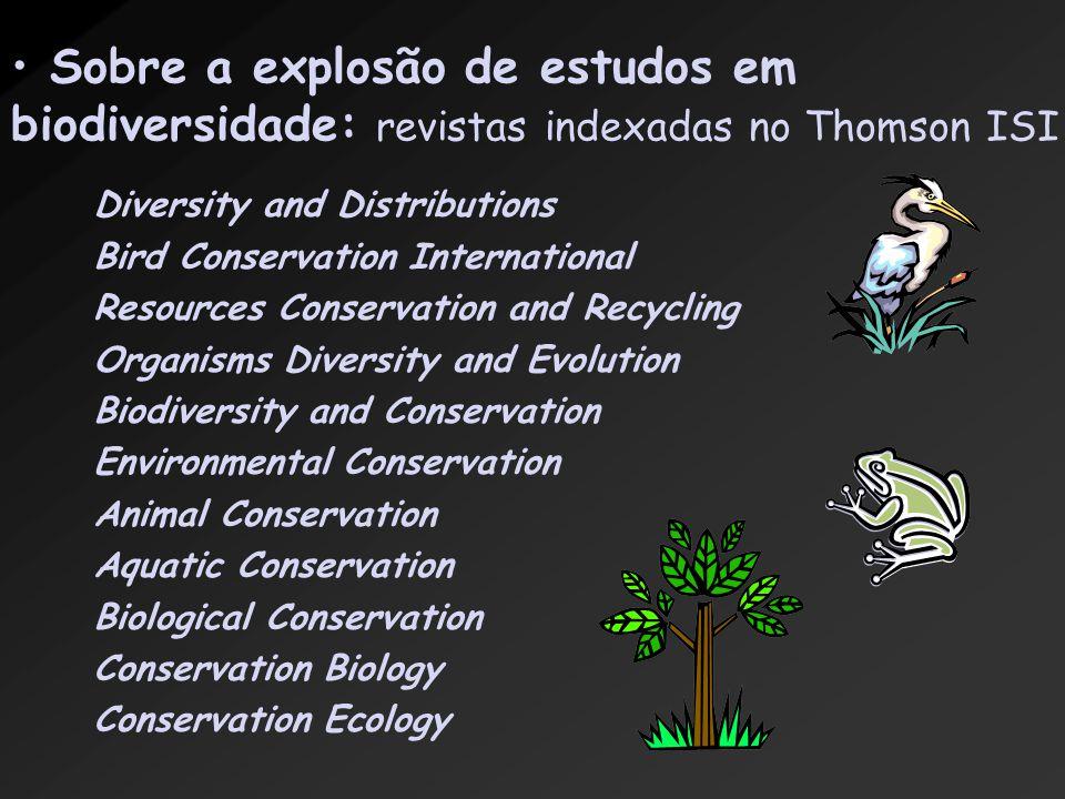 Sobre a explosão de estudos em biodiversidade: revistas indexadas no Thomson ISI