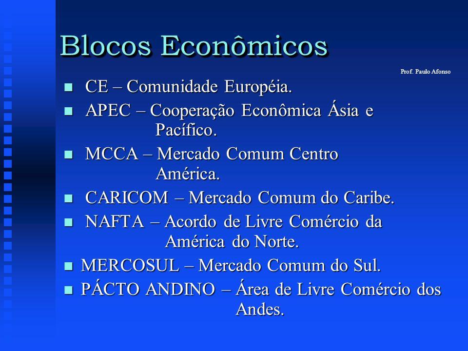 Blocos Econômicos CE – Comunidade Européia.