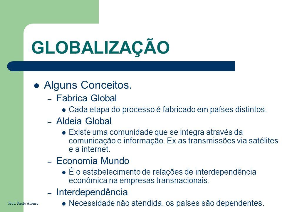 GLOBALIZAÇÃO Alguns Conceitos. Fabrica Global Aldeia Global