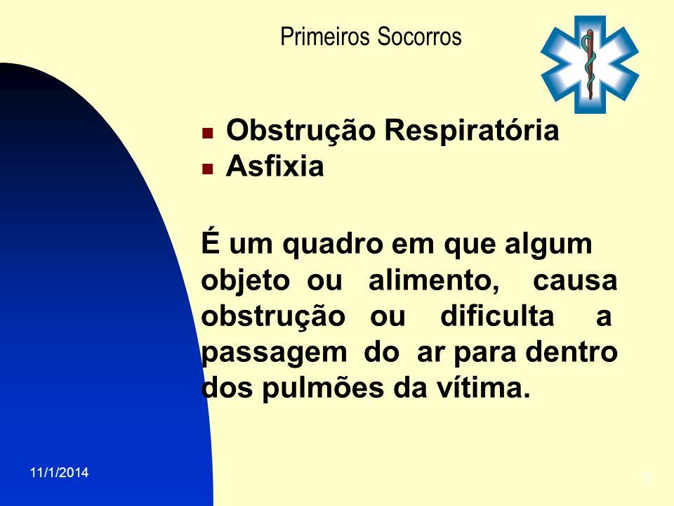 Primeiros Socorros Obstrução Respiratória Asfixia