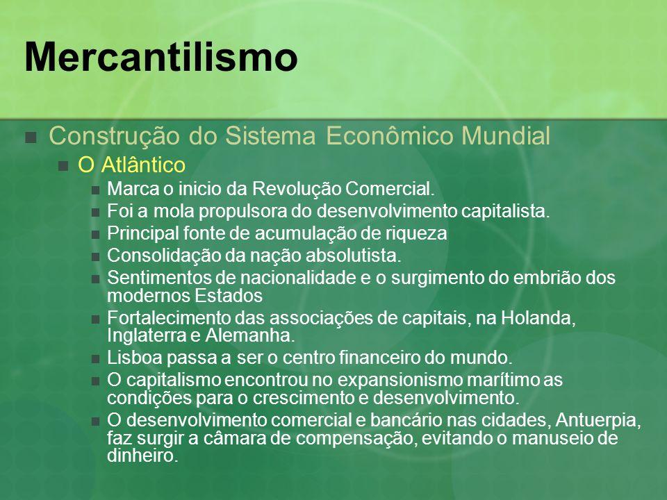 Mercantilismo Construção do Sistema Econômico Mundial O Atlântico