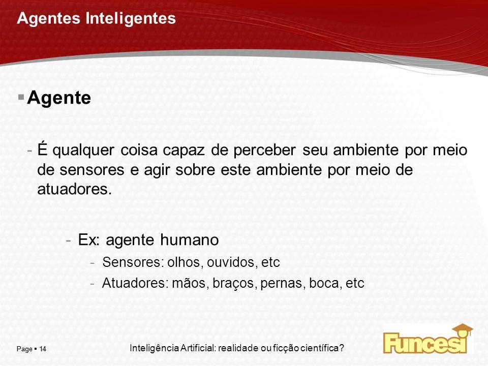 Agente Agentes Inteligentes