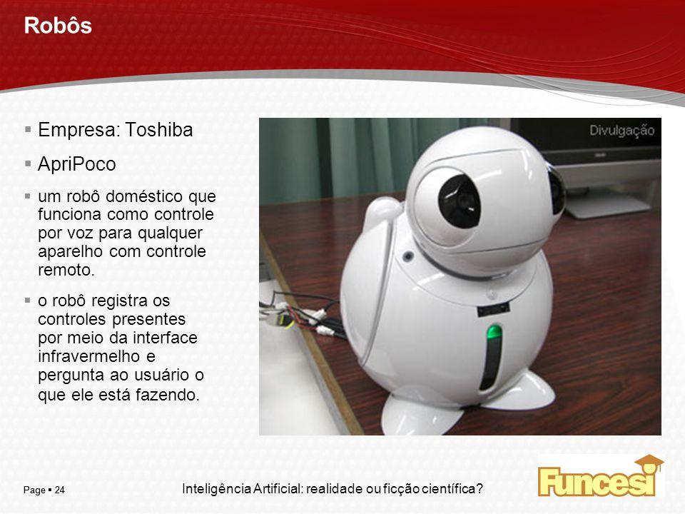 Robôs Empresa: Toshiba ApriPoco