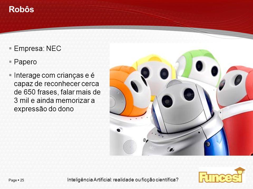 Robôs Empresa: NEC Papero
