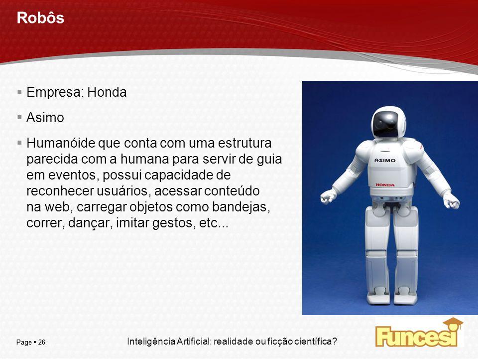 Robôs Empresa: Honda Asimo