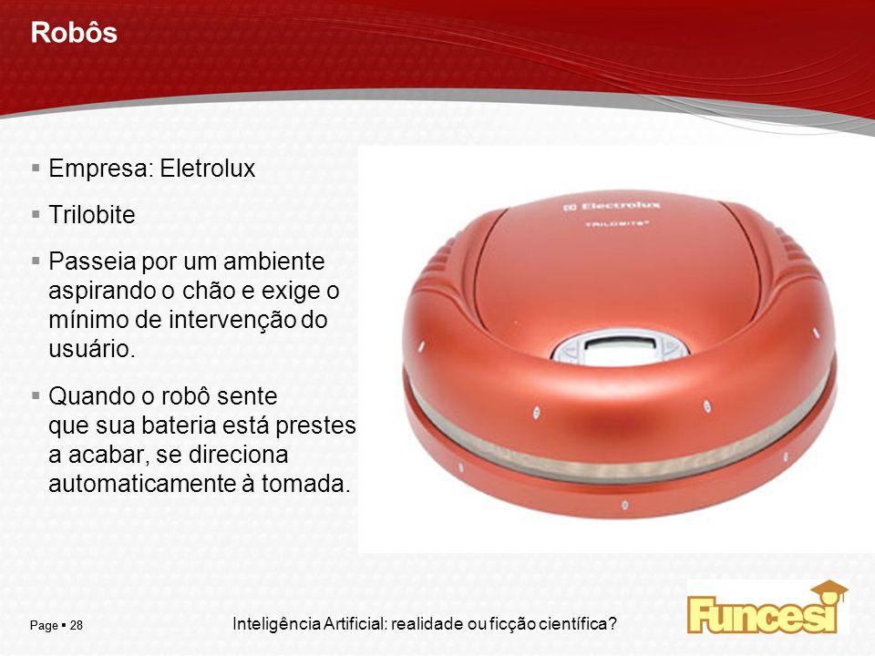 Robôs Empresa: Eletrolux Trilobite