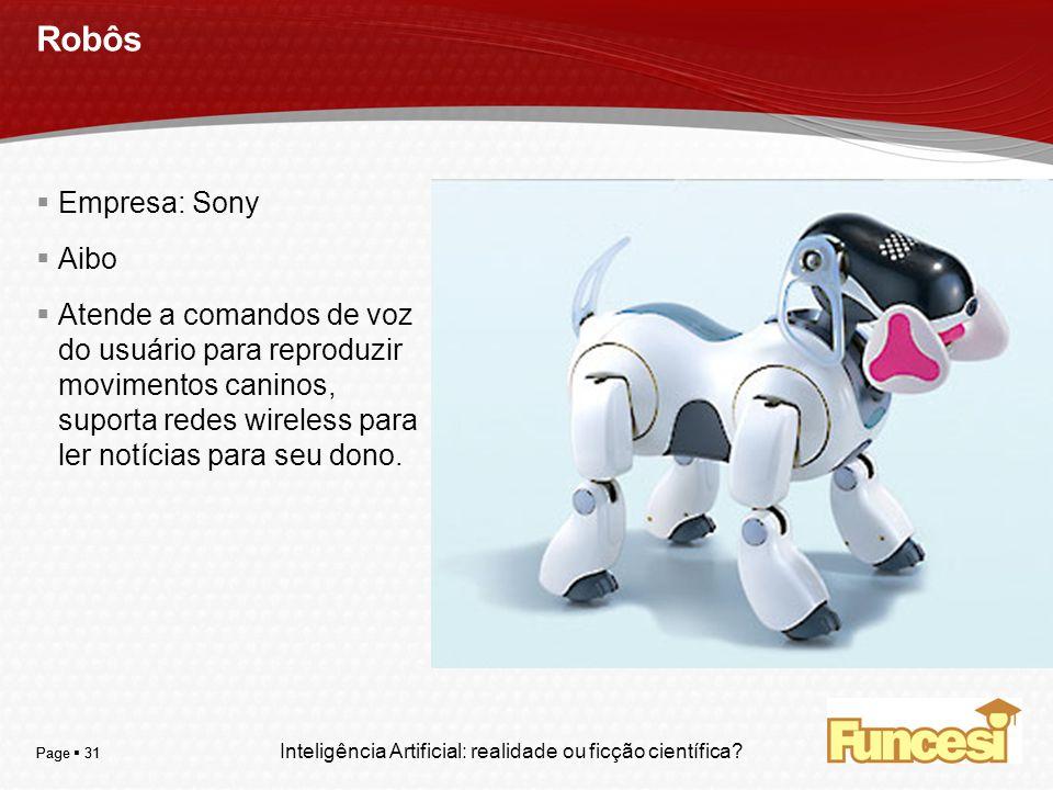 Robôs Empresa: Sony Aibo