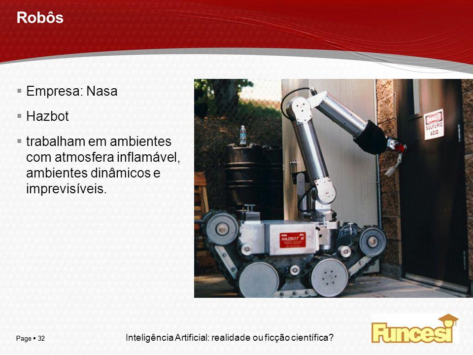 Robôs Empresa: Nasa Hazbot