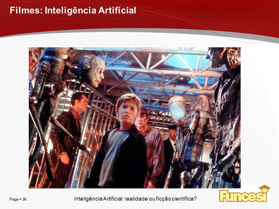 Filmes: Inteligência Artificial