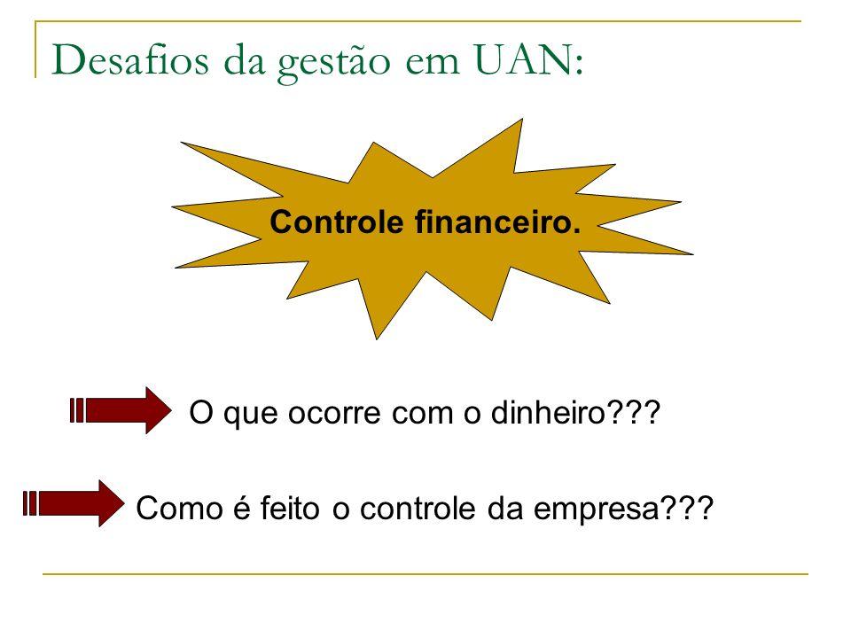 Desafios da gestão em UAN: