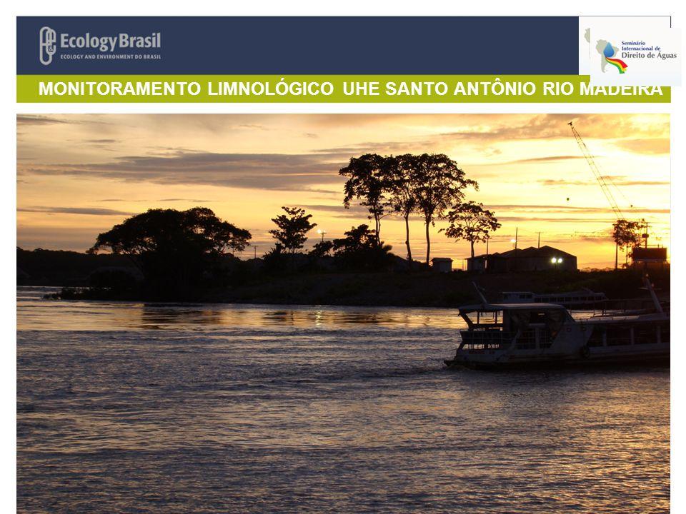 MONITORAMENTO LIMNOLÓGICO UHE SANTO ANTÔNIO RIO MADEIRA