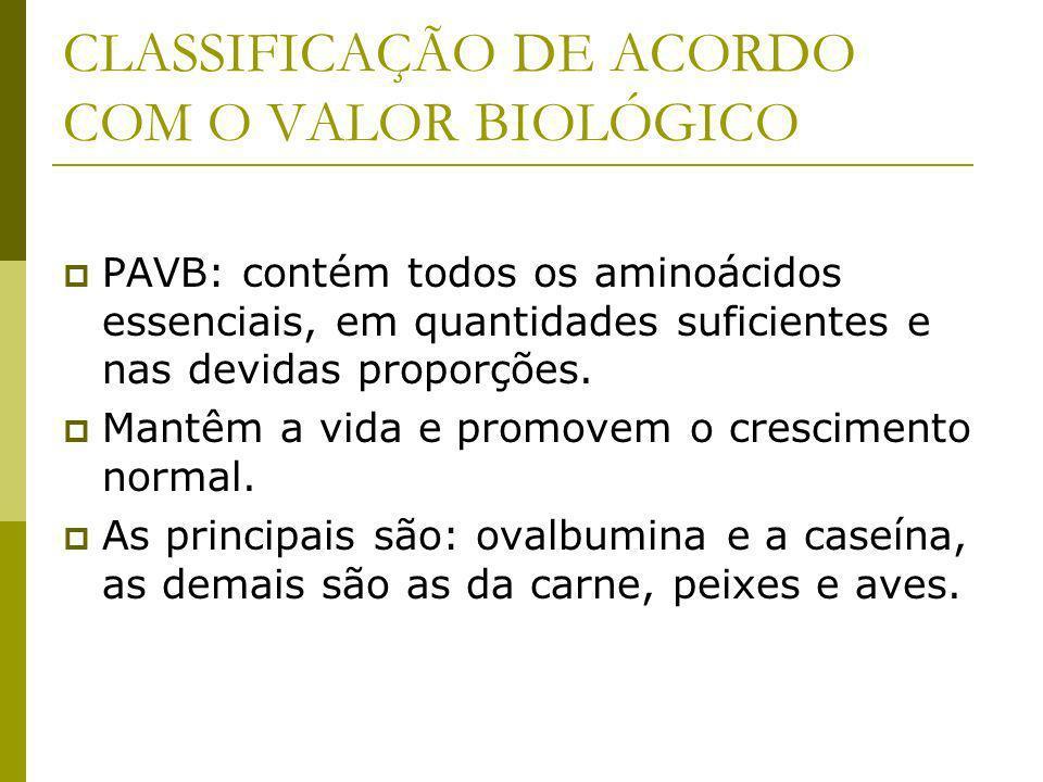 CLASSIFICAÇÃO DE ACORDO COM O VALOR BIOLÓGICO
