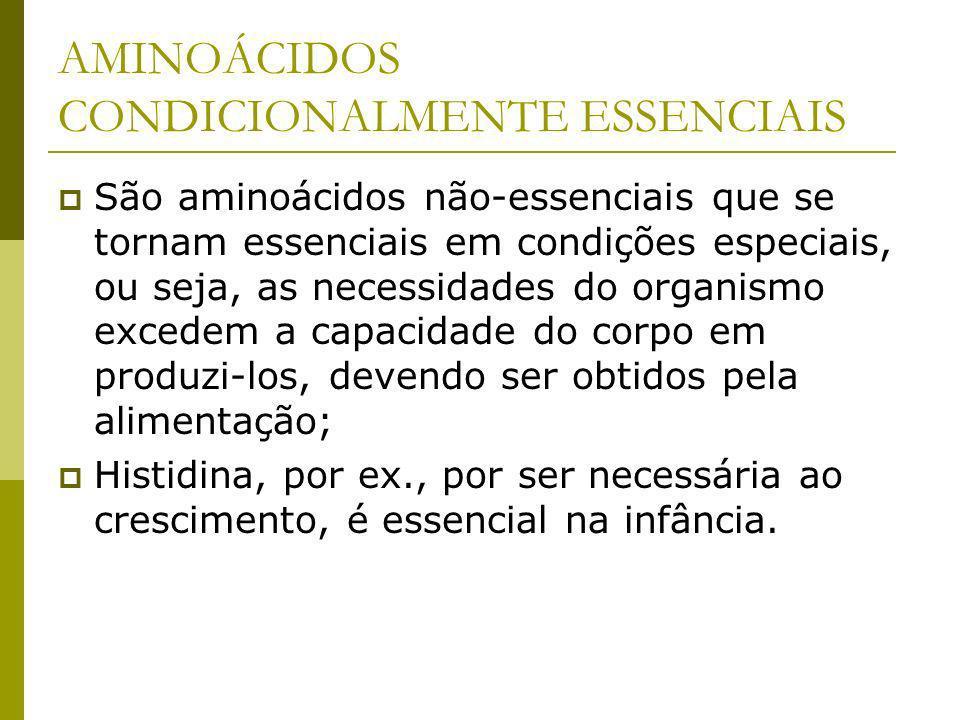 AMINOÁCIDOS CONDICIONALMENTE ESSENCIAIS