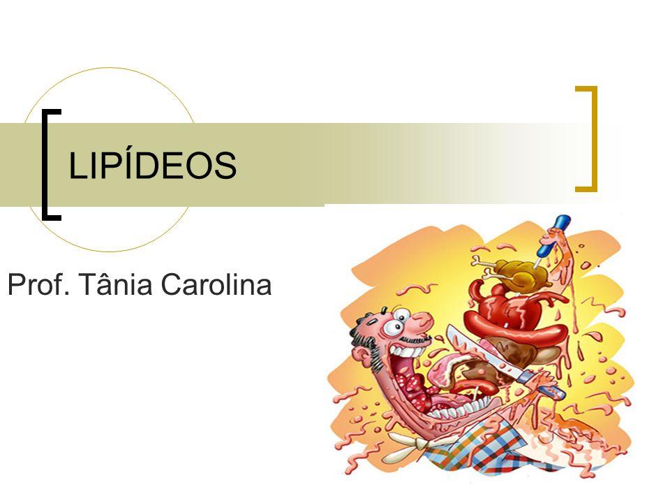 LIPÍDEOS Prof. Tânia Carolina