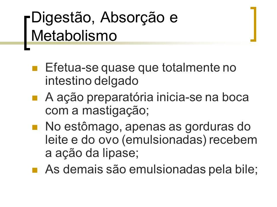 Digestão, Absorção e Metabolismo