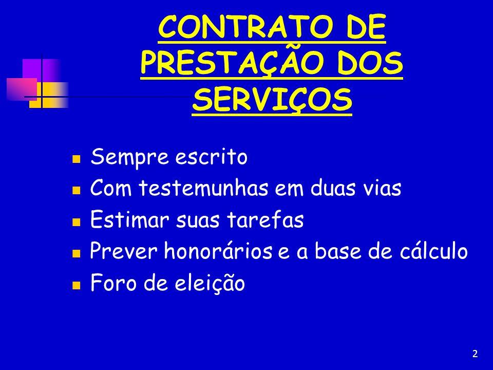 CONTRATO DE PRESTAÇÃO DOS SERVIÇOS
