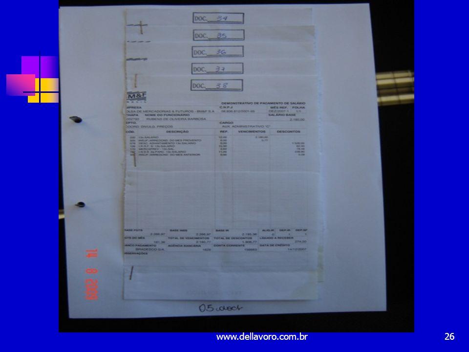 documentos por folha). www.dellavoro.com.br