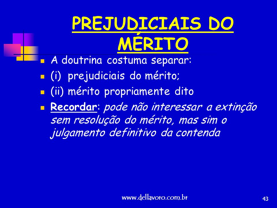 PREJUDICIAIS DO MÉRITO