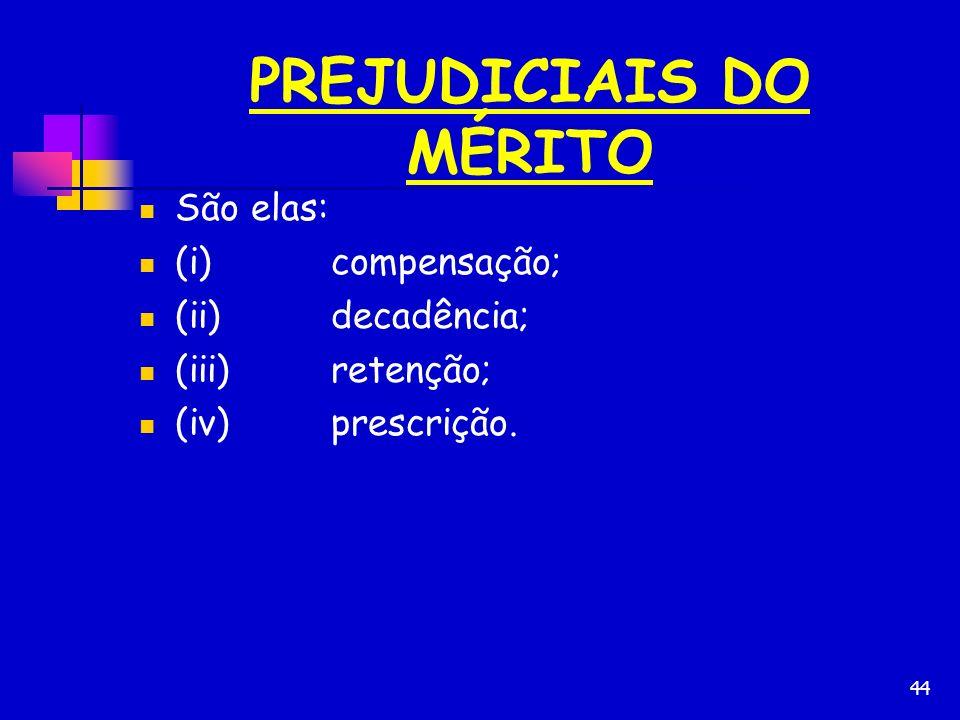 PREJUDICIAIS DO MÉRITO