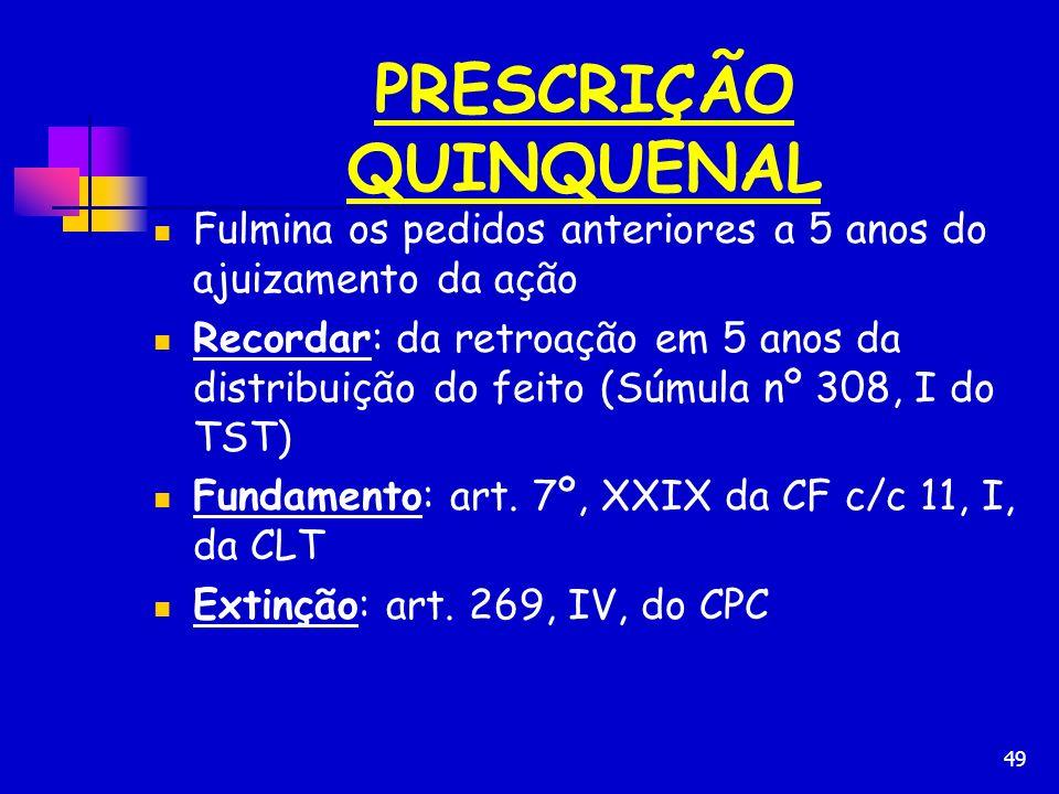 PRESCRIÇÃO QUINQUENAL