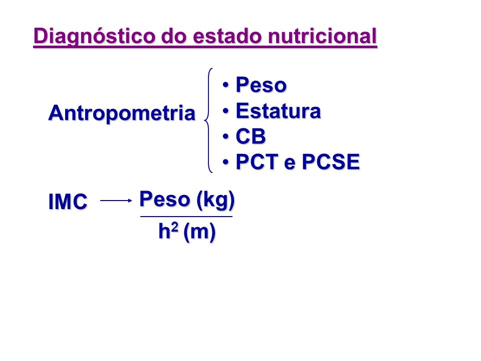 Diagnóstico do estado nutricional