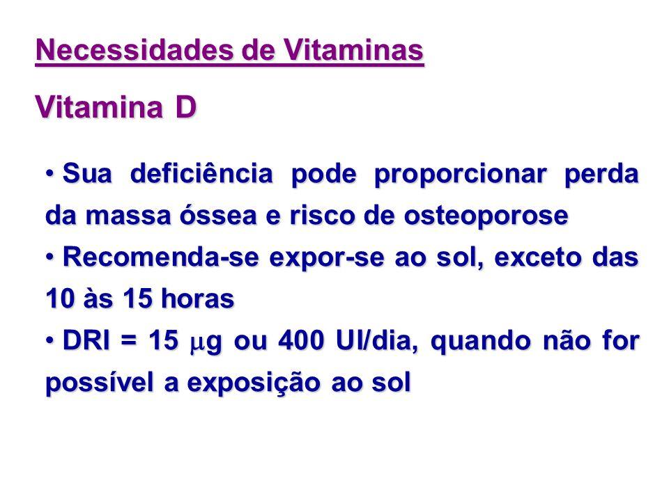 Vitamina D Necessidades de Vitaminas