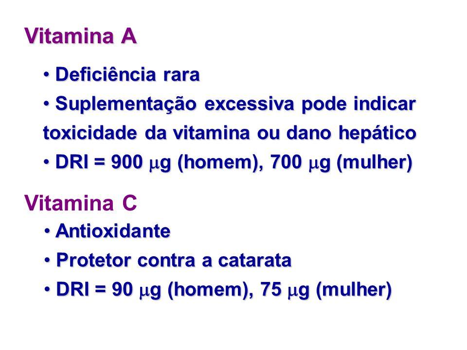 Vitamina A Vitamina C Deficiência rara