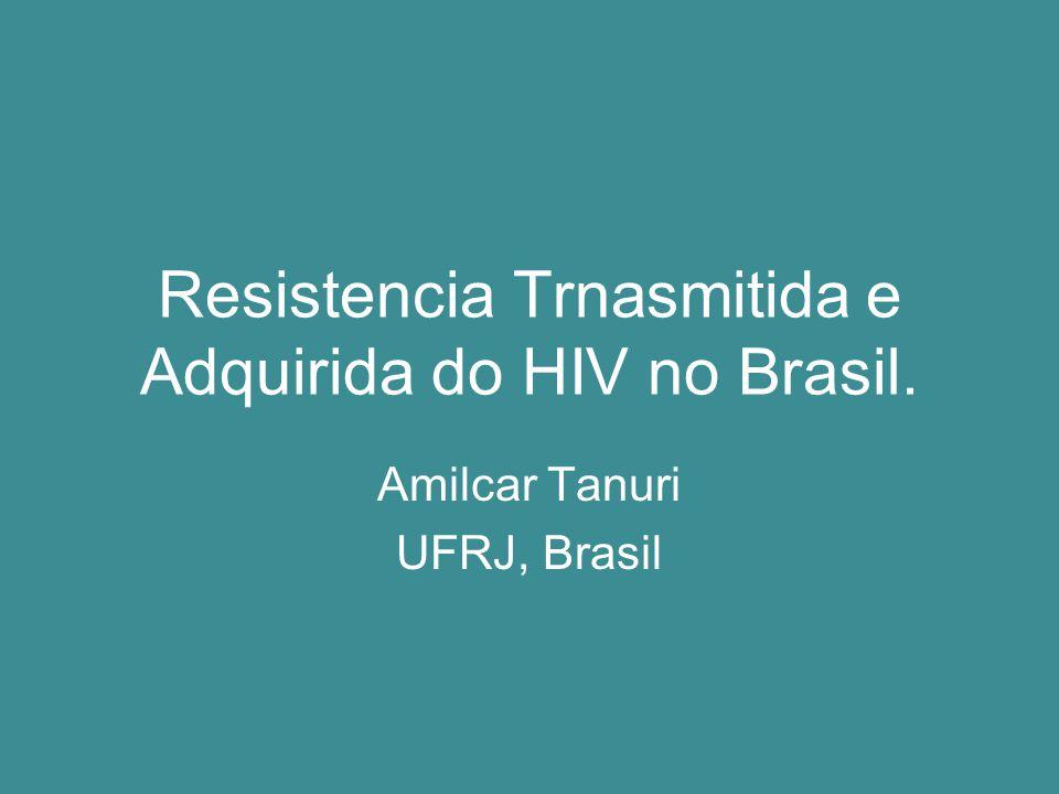 Resistencia Trnasmitida e Adquirida do HIV no Brasil.
